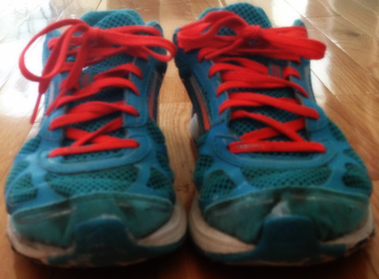 A Pair of Jogging Shoes for Jogging in Place