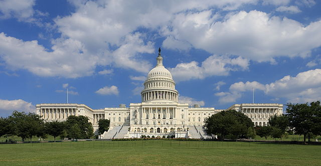 """US Capitol west side"" by Martin Falbisoner - Own work. Licensed under CC BY-SA 3.0 via Commons - https://commons.wikimedia.org/wiki/File:US_Capitol_west_side.JPG#/media/File:US_Capitol_west_side.JPG"