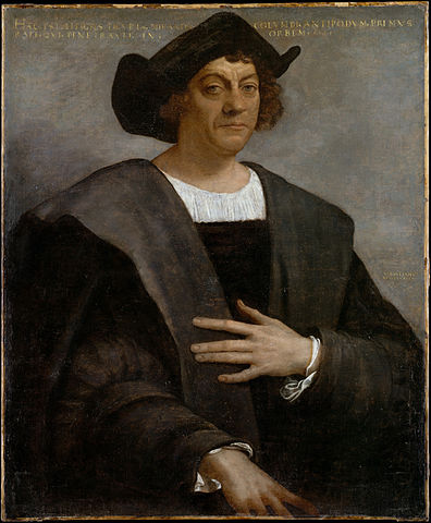 """Portrait of a Man, Said to be Christopher Columbus"" by Sebastiano del Piombo - Metropolitan Museum of Art, online collection. Licensed under Public Domain"