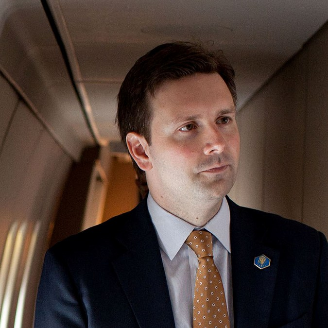 """Josh Earnest 2011"" by (Official White House Photo by Pete Souza)Official White House Photo by Pete Souza - White House Blog). Licensed under Public Domain via Commons - https://commons.wikimedia.org/wiki/File:Josh_Earnest_2011.jpg#/media/File:Josh_Earnest_2011.jpg"