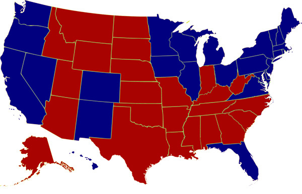 2012 Presidential Election Map - http://www.presidency.ucsb.edu/showelection.php?year=2012