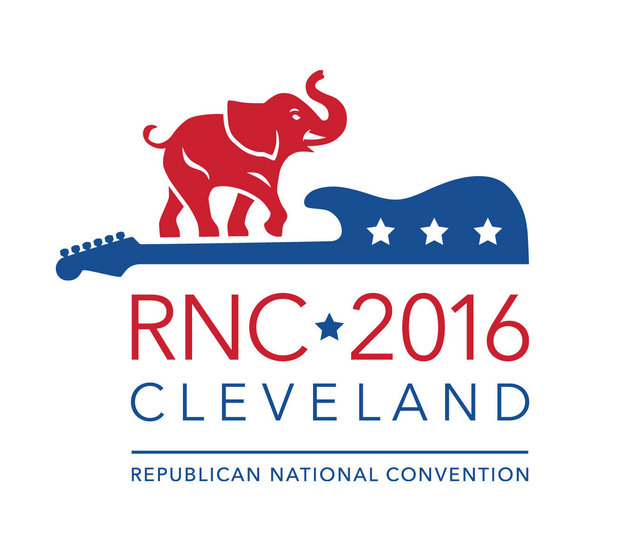 The logo for the 2016 Republican National Convention, designed by Falls Communications, a Cleveland-based firm. (Republican National Committee)