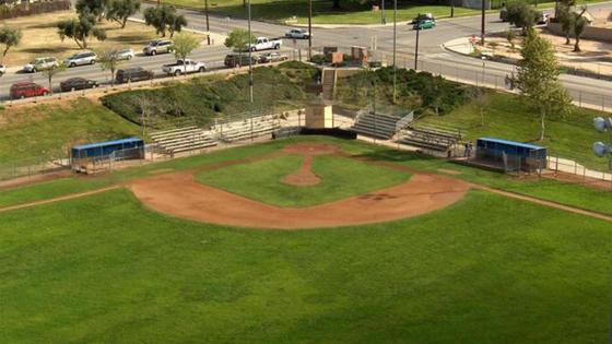 Practice baseball field